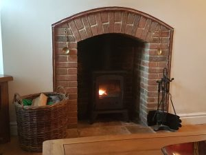 Real log fire woodburner for your cottage holiday in suffolk