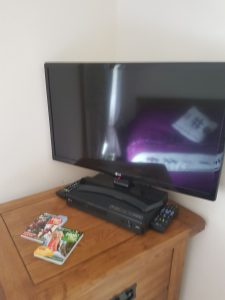 Upstairs Smart TV with DVD and Sky Movies at our self catering holiday cottage