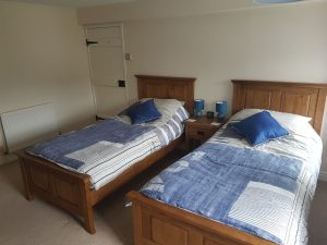 Our cottage in suffolk has a second bedroom with twin beds