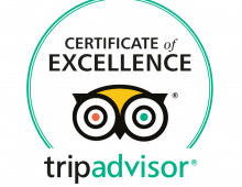 We've been awarded TripAdvisor certificate of excellence for 2017